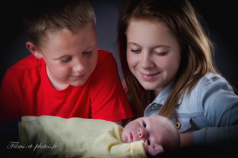 Photo, portrait de famille, naissance de Tiago