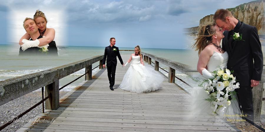 Photo de mariage à la mer