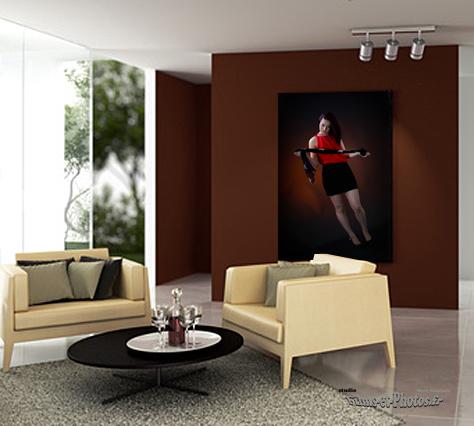 Studio portrait à Rouen, tableau photo, photo sur toile, photo sous plexi